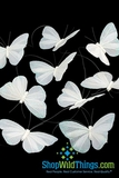 Butterfly Garland - White with Iridescent Glitter