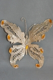 "Butterfly Jewel Clip 6"" - Champagne Gold Glitter"