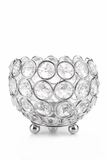 "Candle Holder - Round Beaded Crystal Votive -  ""Prestige"" -  4"""