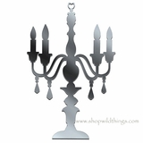 "Candelabra 11.75"" x 7.75"" Plexi Mirrored Adhesive Wall Art"