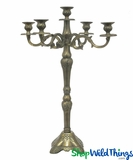"Candelabra ""Boston"" Antique Gold  - 2 Feet Tall"
