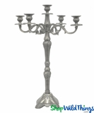 "Candelabra ""Boston"" Antique Silver - 2 Feet Tall"
