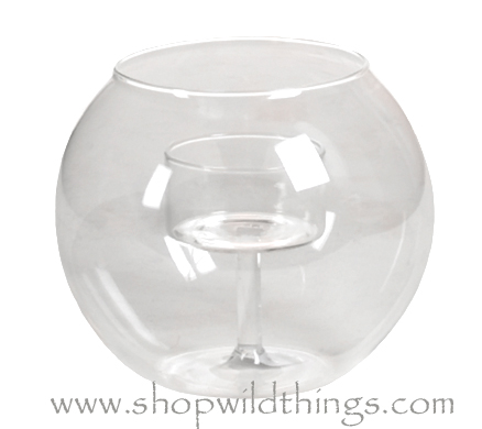"Coming Soon!  Candle Holder Bowl, Clear Round Glass - ""Alina"" - 2.75"" x 3.5"""
