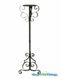 "Candle Holder ""Bristol"" Large - Black - 36"" Tall"