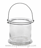 """Candle Holder Hanging or Tabletop - Thick Glass - """"Bethanie"""" - 4"""" x 4"""""""