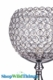 """Candle Holder Stand - """"Katrina"""" Crystal Goblet - 25"""" - Silver with Real Crystals"""