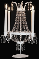 "Candle Tabletop Chandelier 17""  Tall -   ""Hannah"""