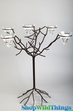 "Candle Tree Black/Brown Iron & 5 Conelets -  ""Melodie"""