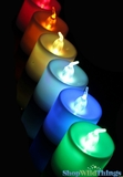 Candles - Flameless Flashing & Fading Color Change LED - Set of 4