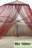 "Canopy -  ""Dreamy""  Mosquito Net Bed Canopy - Burgundy Red (on CSI:NY)"