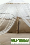 "Canopy - ""Dreamy"" Mosquito Net Bed Canopy - Ivory"