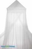 "Canopy ""Gibson Girl"" White Lacy Mosquito Net"
