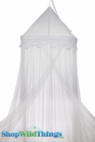 "Canopy ""Gloria"" White Embroidered Top Mosquito Net"