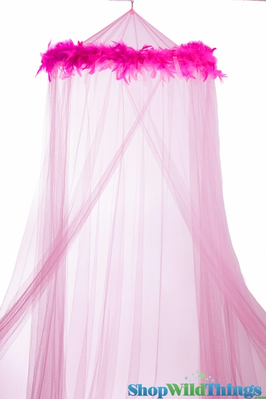 Bed Canopy With Feathers Pink Mosquito Net Canopy Feather