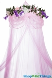 "Canopy ""Sleeping Beauty"" Pink With Flower Garland Mosquito Net"