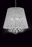 "Ceiling Lamp ""Spellbound"", Crystal, 18"" Wide - Stunning Tubular Shade"
