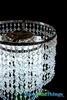 "Centerpiece Boost Kit - ""Madison"" Crystal Iridescent Centerpiece on 20"" Riser"