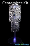 "Centerpiece Boost Kit - ""Shimmy"" Silver Beaded Centerpiece on 29"" Riser"