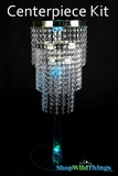"Centerpiece Boost Kit - ""Whitney"" Clear Beaded Centerpiece on 29"" Riser"