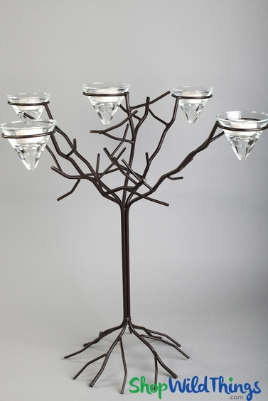 CLEARANCE!  Limited Stock! Iron Candle Tree - Add Crystals & Floral!