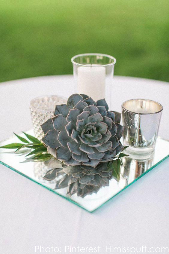 Centerpiece Display Mirrors - Round, Square, Rectangle