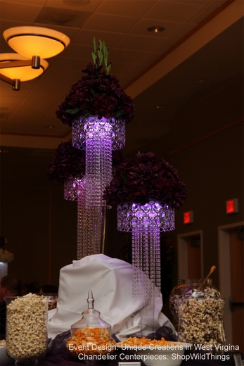 Using a Chandelier as a Centerpiece