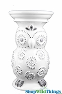 "Ceramic Owl Stool or Table - 19.5"" Tall"