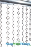 """Chain & Crystal Curtain """"Cameo & Aces"""" 3 ft x 6 ft"""