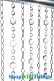 "Chain & Crystal Curtain ""Cameo & Lola"" 3 ft x 6 ft"