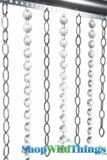 """Chain & Crystal Curtain """"Cameo & Octagons"""" 3 ft x 6 ft"""