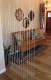 Cameo Geometric Chain Curtain 3 ft x 6 ft