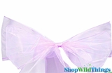 "Chair Bow/Table Runner Fabric 9"" x 10' - Sheer Lavender Organza - Set of 6"