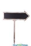 "Chalkboard - Arrow Wooden Sign on Stake 29"" x 24"""
