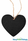 Chalkboard, Double Sided Heart w/String - 2.5""