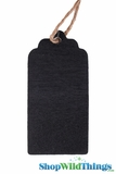 Chalkboard Gift Tag Labels, Double Sided w/Jute String