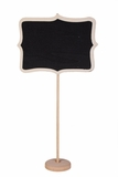 "Chalkboard on Wooden Stand - 13"" Tall"