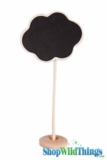 "Chalkboard on Wooden Stand - Cloud - Small 7"" Tall"