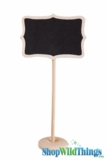 "Chalkboard on Wooden Stand - Rectangular - Natural - Small 7"" Tall"