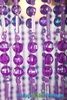 "Chandelier  ""Ashley""  2-Tier Hanging Lamp, Purple 9"" x 14"""