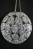"Chandelier or Table Decor ""Ayanna"" - Crystal Beaded Sphere 12"" Diameter"