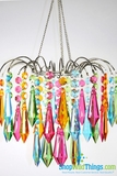 "Chandelier  ""Bejeweled""  Neon Colors"