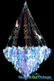 "Chandelier ""Celestia""  - X Large 24"" x 3 Feet Long - Iridescent, Expanding"