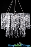 "Chandelier ""Dazzle"" Diamante Duo - Bright Silver, 24"" Diameter"