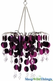 "Chandelier Decoration""Spangles & Crystals"" -  Fuchsia"