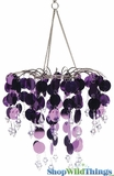 "Chandelier Decoration ""Spangles & Crystals"" - Pink"
