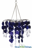 "Chandelier Decoration ""Spangles & Crystals"" - Purple"