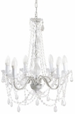 "Chandelier Eden - Gypsy Large - 6 lights - Clear and Metallic Gray - 21.5"" x 52"""