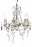 "Chandelier Eden - Gypsy Small - 5 lights - Clear and Metallic Gray - 13"" x 40"""