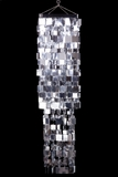 "Chandelier ""Fabulous"" Square 4' Long Silver"
