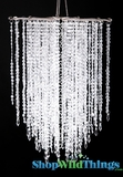 Chandelier  Falling Stars  - Clear Non-Iridescent Beads -  21.5""